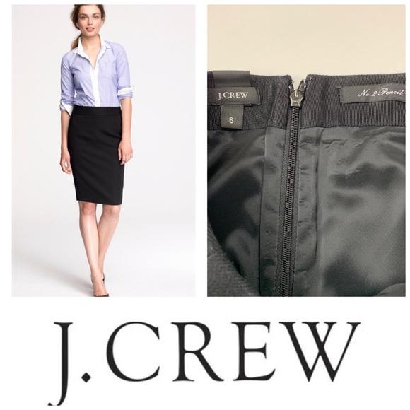 J. Crew Black Pencil ✏️ Skirt